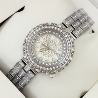 Top Fashion Luxury Silver Women Dress Watch with full diamon...