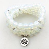 SN1204 Fashion Design Dames Wrap Armband 108 Mala Yoga Ketting Natuurlijke Opal Beads Balance Armband Beste Meisjes Gift