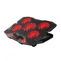 Laptop Cooling Pads Einstellbare Notebook Stand Fünf Lüfter Laptop Kühler mit Touch Screen Speed Control Metall Mesh für 12-17 Zoll 2 USB verkabelt