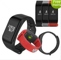 Nouveau Fitness Tracker Bracelet Moniteur de fréquence cardiaque Smart Band F1 Smartband Pression Artérielle Avec Podomètre Bracelet