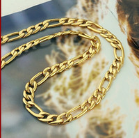 Klassische Männer 14k Gelb Solid Gold Halskette Kette 23.6inch 100% Echtgold
