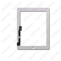 iPad 2 3 4에 대 한 50PCS 터치 스크린 유리 터치 패널 디지타이저 태블릿 PC 화면 흑인과 백인 DHL 무료