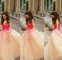 2019 Puffy Prom Dress per adolescenti Nuovo arrivo Champagne colore Long Junior Evening Party Gown Plus Size abiti da festa