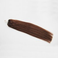 # 4 Dark Brown Cabelo Loiro Micro Anel de Cabelo 1g / strand 50 s / pacote 50g Humano Micro Bead Links Extensões de Cabelo Remy 4b 4c