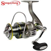سلسلة sougayilang SG2000-5000 الصيد بكرات الغزل مع 12 + 1bb تحمل كرات الجسم المعدني الصيد بكرة المياه المالحة العذبة