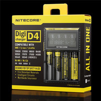 Nitecore D4 DigiCharger LCD Universal Display Nitecore Chargeur Fit 14500 16340 26650 18650 18350 Mod batterie avec câble de charge