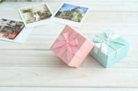 / Celeste pendiente caja / colgante de visualización / timbre especial caja de embalaje [Simple Siete] la moda del color sólido pulsera / joyero con la cinta