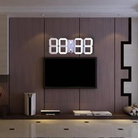 Multifunctional Remote Control Big LED Digital Wall Clock Br...