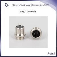 Brand New e de Boa Qualidade 20 PÇS / set 12mm GX12 2pin Masculino e Feminino Fio Painel Aviação Plug Conector