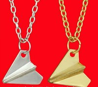 One Direction Paper Plane Necklace Charm Alloy Jewelry New D...