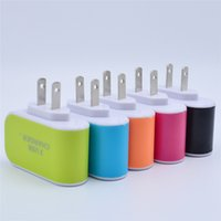 Candy Multicolor LED Fast Charging Triplo 3 USB Port Wall Home Travel Adaptador AC Power Charger 3.1A EU EU Plug