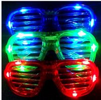 LED Light Glasses Flashing Shutters Shape Glasses LED Flash ...