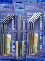 304 stainless steel 4+ 1 Stainless Steel Bending Straw Brush ...