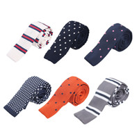 New Style Men Knitted Leisure Necktie Polka Dots Classic Bus...