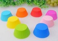 Safety Oval Cupcake silicone Cake Cups Mould Case Bakeware M...