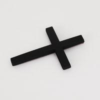 200 stücke Schwarz Kreuz Kruzifix Metall 3D Auto Körper Schmücken Abzeichen Emblem Aufkleber Auto Aufkleber Embleme Abzeichen Auto Trail