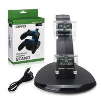 LED Dual USB doca de carregamento Station stand Charger para Sony PlayStation 4 PS4 Xbox Um Jogo Gaming Controlador PS 4 controlador sem fio Console