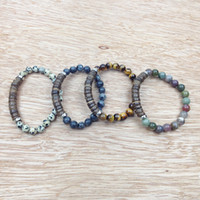 SN0627 Hot Sale Coconut Shell Bracelet Tiger Eye Stone Brace...