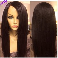 Free shipping , African yaki straight wig long synthetic lace...