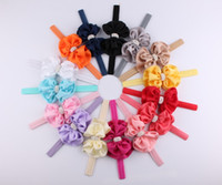 Newest !!! 2016 Baby Girls Double Layer Bowknot Headbands Sa...