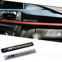//// M desempenho Motorsport metal logotipo engraçado carro adesivo de alumínio Emblema emblema emblema emblema para BMW E34 E36 E39 E53 E60 E90 F10 F30 M3 M5 M6
