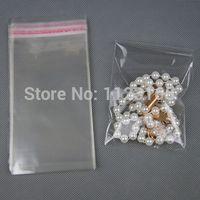 Il trasporto libero 1000 pz / lotto, 4 X 15 cm OPP Trasparente Autoadesivo sigillo di plastica sacchetto-tutto trasparenza striscia di colla sigillo abbigliamento etichetta imballaggio sacco