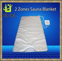 أفضل جودة ساونا الأشعة تحت الحمراء بطانية 2 ZONE FIR FAR التخسيس تسخين SPA العلاج تخسيس الوزن PORTABLE DETOX أدوات تجميل راي الحرارة NEW