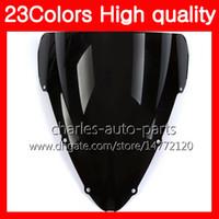 Parabrezza moto 100% nuovo per HONDA CBR600F4i 04 05 06 07 CBR600 F4i 600 F4i 2004 2005 2006 2007 Parabrezza nero chiaro cromato