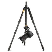 Yeni Q666 Pro QZSD-02 Profesyonel Fotoğraf Taşınabilir Tripod Monopod Dijital SLR Kamera Için Set Sadece 35 cm Yük Taşıyan 15Kg