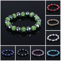 Beaded Bracelets (20 balls pcs) Women Fashion Jewelry Crysta...
