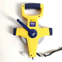손 발 개폐식 통치자 테이프 측정 50m 스테인레스 스틸 테이프 엔지니어링 측정 도구