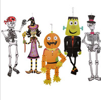 halloween props hanging paper grim decoration diy skeleton zombie witch outdoor decor halloween decoration party accessories kka2817 - Zombie Props