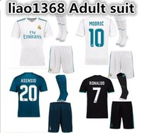 New 17 2018 adult Kits Real Madrid home Soccer Jersey 17 18 ...