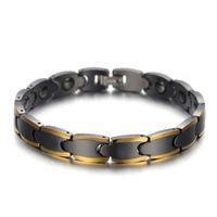 Moda Pulseiras De Carboneto De Tungstênio Unisex Cadeia de Aço de Tungstênio Equilíbrio de Energia Magnética da Cor do Ouro Jóias Cuidados de Saúde