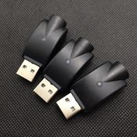 Cargador inalámbrico eGo USB Cargador de cigarrillo electrónico adaptador de carga usb negro para todos los ego 510 batería de batería e cargador Esmart