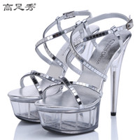2016 Europe and USA Nightclub stage model super high heels S...