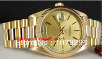 Top Quality Luxury Watches 118238 18238 Yellow Dial Stainless Steel Bracelet 36mm Automatic Mens Men's Watch Watches
