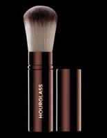 Kum saati geri çekilebilir kabuki Seyahat Fırça Güzellik Kozmetik Makyaj Vakfı fırça allık fırçası gevşek boya Blender Araçları