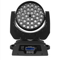 Freie Verschiffen Qualität 36x10W Viererkabelfarbe RGBW 4 in 1 Zoom-Wäsche LED bewegliches Hauptlicht