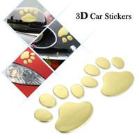 Oto PVC Sevimli Pet Hayvan Ayak Izleri Amblem Araba Kamyon Dekor 3D Kişiselleştirilmiş Sticker Çıkartma Oto Araç Motosiklet Şekillendirici Paster