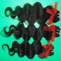 Большие акции 9 шт. / Лот 7а самые дешевые обработанные малазийские человеческие волосы Extensins ткацкие волны кузова раскладки Wefts Быстрая доставка