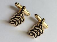 Satılık 10 pairs Toptan yaprak lüks kol düğmesi masonik tasarımcı kol düğmeleri erkek kol düğmesi için mason kol düğmeleri sıcak satış