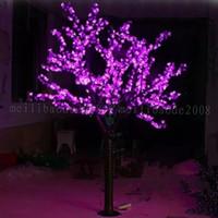 LED LED الكرز الاصطناعي زهرة شجرة عيد الميلاد الخفيفة 1248pcs لمبات 2M / 6.5FT الطول 110 / 220VAC المعطف استخدام في الهواء الطلق شحن مجاني MY