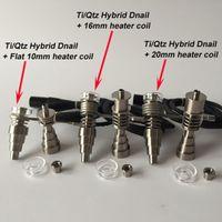 Il nuovo aggiornamento altamente educativo Titanium / quarzo ibrido unghie misura riscaldatori piani bobina 10mm / 16mm / 20mm in magazzino spedizione gratuita