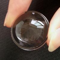 Diâmetro de 35mm de Alta Potência Levou lentes ópticas Transparente Lanterna Asférica photics Vidro Lente Plano-convexo