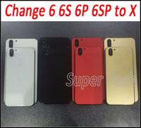 ل iPhone X نمط العودة الإسكان مع استبدال الإطار البطارية البطارية المعدنية لفون 6 6Plus 6SPlus 7G أسود أبيض الذهب شحن مجاني
