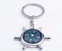 50pcs Fashion Accessories High rudder compass keychain compa...