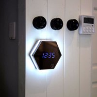 Multifunction Mirror Glass Alarm Clock with LED Night lights...