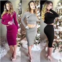Womens Dress Two Piece Sleeveless Dresses Bodycon Crop Top S...