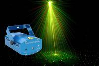 Portátil 150 mW Mini LEVOU Projetor Laser Light Stage Iluminação DJ Disco Party Bar Clube com EUA REINO UNIDO DA UE AU Plug AC110-240V